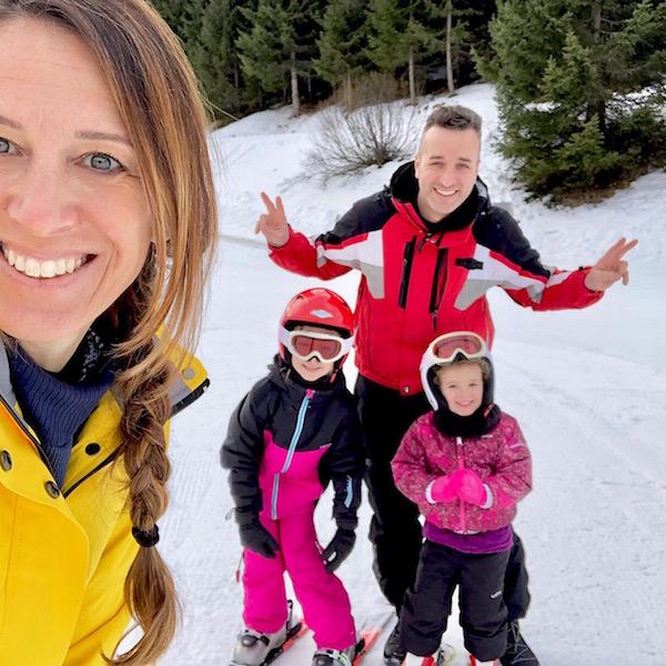 famiglia sciare